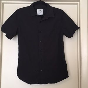 Black On the Byas button up